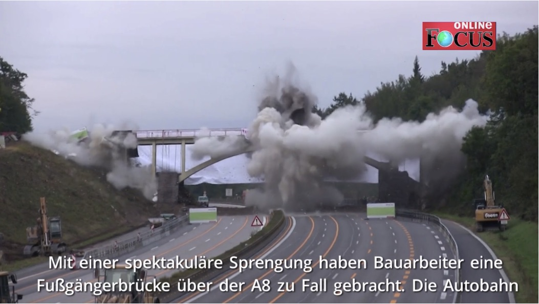 Gewaltige Explosion: Sprengmeister jagen Brücke in die Luft | A8