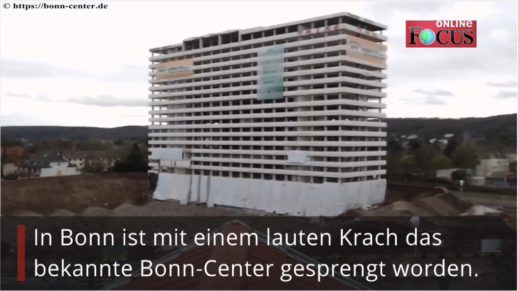 Bonn-Center, Aufnahmen zeigen Sprengung des Gebäudes | Bonn
